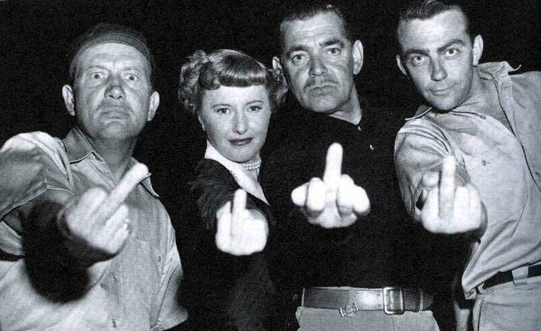 Lew-Smith-Barbara-Stanwyck-Clark-Gable-and-Bill-Hickman-on-the-set-of-To-Please-a-Lady