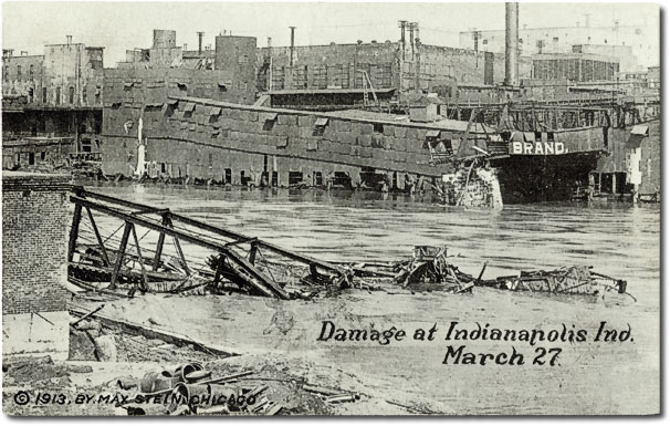 Damage at Indianapolis, Indiana, March 27