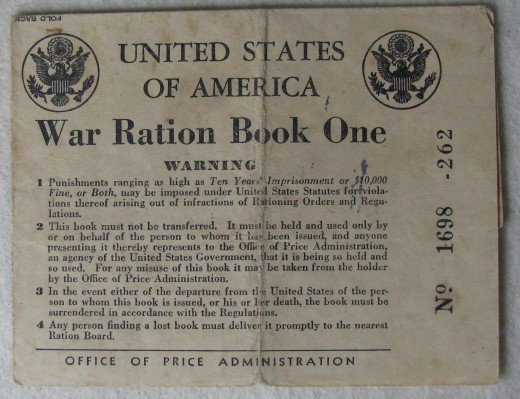 z WWII OPA Rationing Booklet