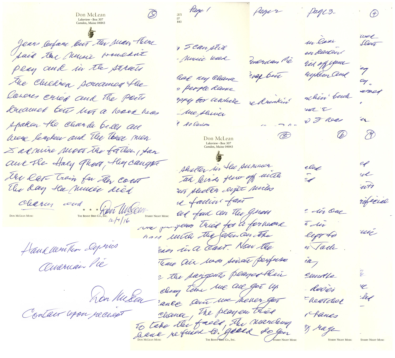 z Don-McLean-American-Pie-Handwritten-Lyrics-52711