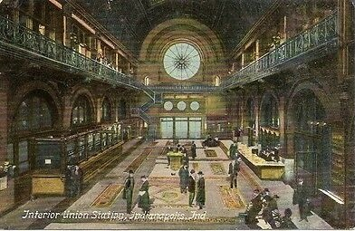z Vintage-Postcard-Indianapolis-Indiana-Interior-Union-Station