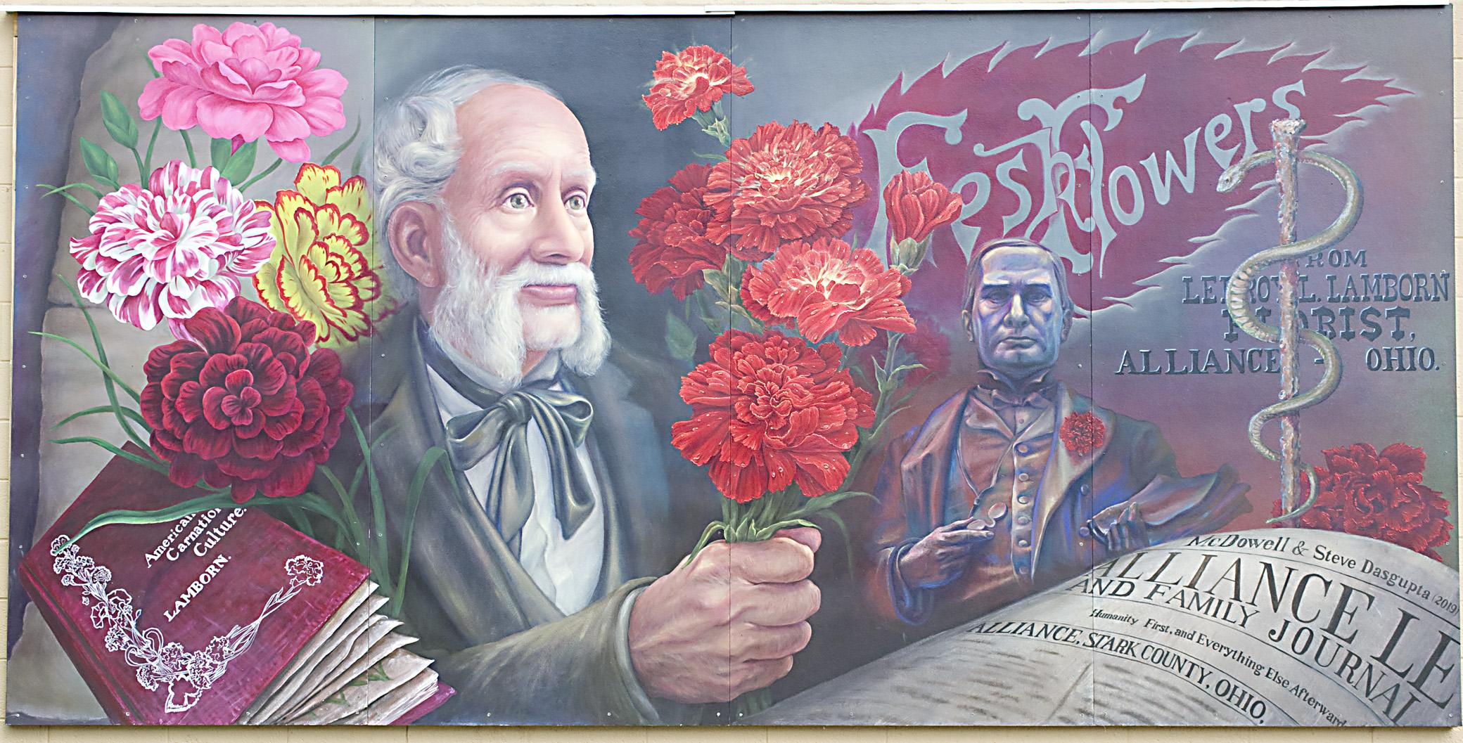 z Lanborn McKinley mural Alliance Ohio