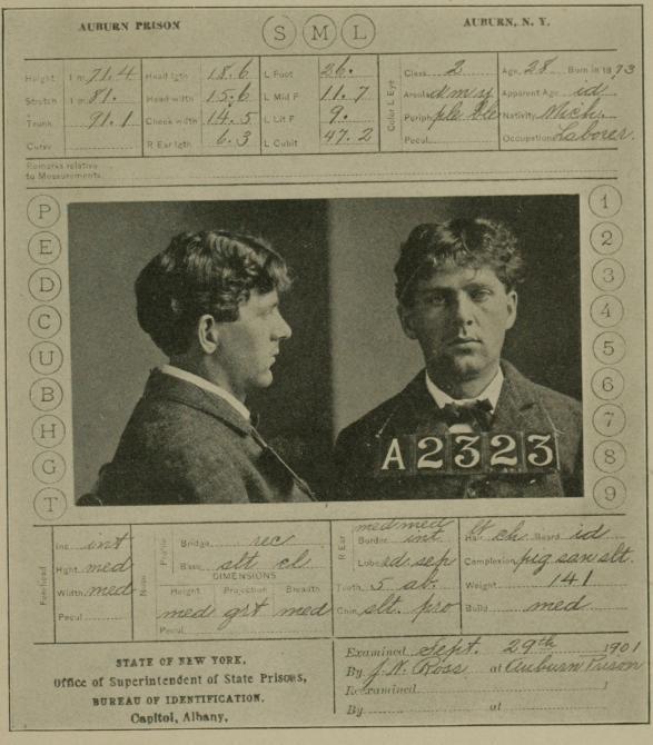 z Prison_card_of_Leon_Czolgosz