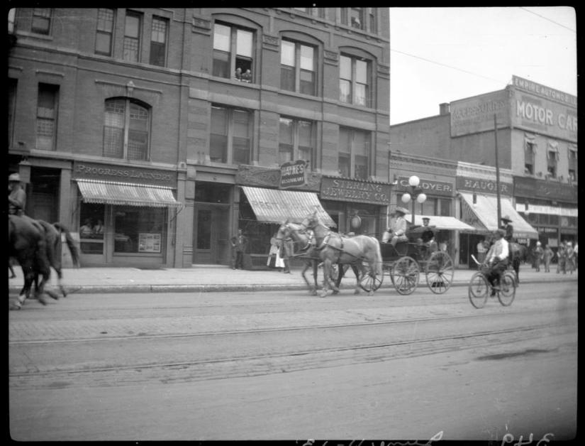 Part II Buffalo Bill on Mass Ave June 11 1913 Photo courtesy Lilly library Indiana University