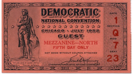 z 1952DemocraticConventionTicket