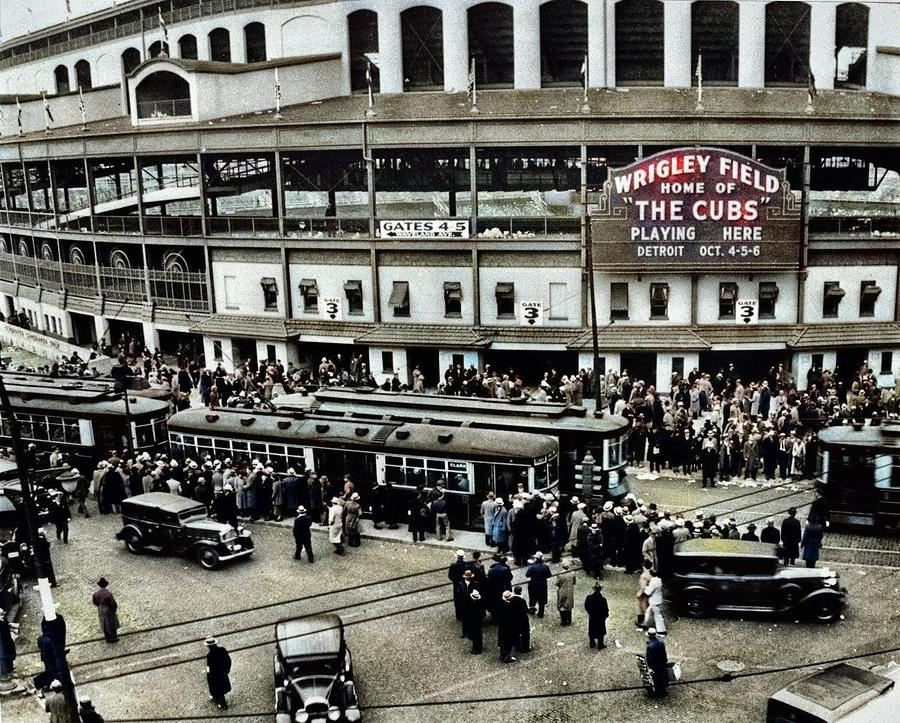 wrigley-z field-vintage-photo-photograph-print-chicago-cubs-baseball-stadium-1930s-artistic-panda